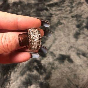 White Topaz and Created Diamonds